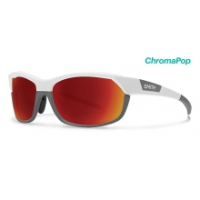 "PivLockâ""¢ Overdrive Matte White Cement ChromaPop Sun Red Mirror by Smith Optics"