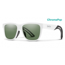 Lowdown Focus Slim Matte White ChromaPop Gray Green by Smith Optics