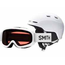 Gambler-Zoom Combo White Youth Medium (53-58 cm) by Smith Optics