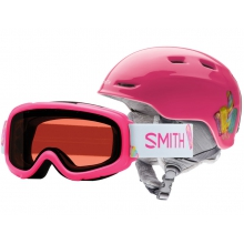 Gambler-Zoom Combo Pink Popsicles Youth Medium (53-58 cm) by Smith Optics