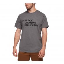 Men's Stacked Logo Tee by Black Diamond in Alamosa CO