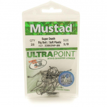 Super Death 1X Strong Soft Plastic Hooks by Mustad