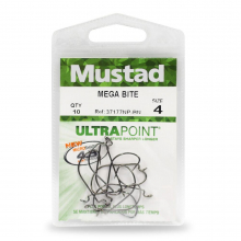 Mega Bite Soft Worm Hook by Mustad