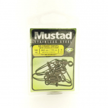 Crane Stainless Steel Swivel with Crosslock Snap by Mustad