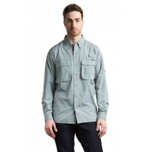Men's Air Strip Micro Plaid Long Sleeve Shirt by ExOfficio in Colorado Springs Co