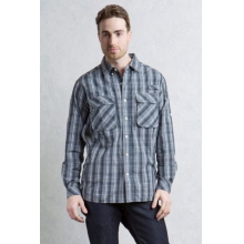 Men's Air Strip Macro Plaid L/S by ExOfficio in Jacksonville Fl