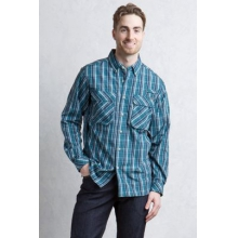Men's Air Strip Macro Plaid L/S by ExOfficio in Sioux Falls SD