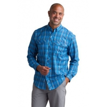 Men's Minimo Plaid Long Sleeve Shirt by ExOfficio in Ofallon Il