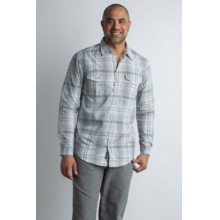 Men's BugsAway Sol Cool Plaid L/S