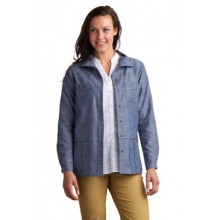 Women's Sol Cool Chambray Long Sleeve Shirt by ExOfficio