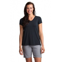 Women's Wanderlux V-Neck Short Sleeve Shirt by ExOfficio in Corvallis Or