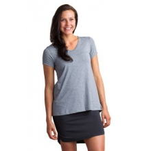 Women's Wanderlux V-Neck Short Sleeve Shirt by ExOfficio in Highland Park Il