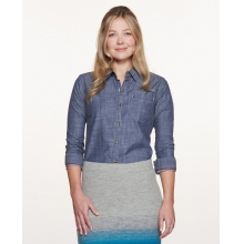 Women's Chambray Slub LS Shirt by Toad&Co in Concord Ca