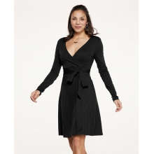 Women's Cue Wrap LS Dress