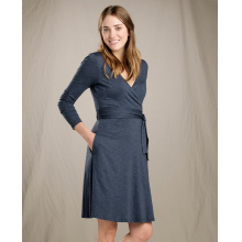 Women's Cue Wrap LS Dress by Toad&Co in Marina Ca