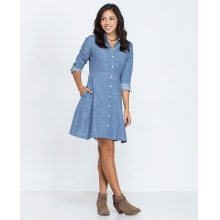 Women's Chambray Shirt Dress