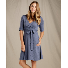 Women's Cue Wrap Cafe Dress by Toad&Co in Anchorage Ak
