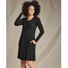 Women's Daisy Rib LS Swing Dress