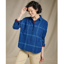 Women's Indigo Wells LS Popover by Toad&Co in Iowa City IA