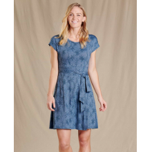 Women's Cue Wrap SS Dress by Toad&Co in Northridge Ca