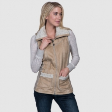 Women's Dani Sherpa Vest by Kuhl in Golden Co