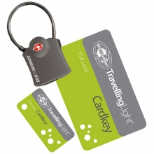 Travelling Light TSA Travel Lock - Cardkey with Cable