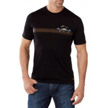 Men's NTS Micro 150 Tee: Charley Harper National Park Poster Bird on a Mountain by Smartwool
