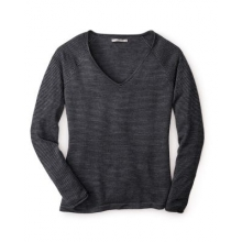 Women's Granite Falls Micro Stripe V-Neck by Smartwool