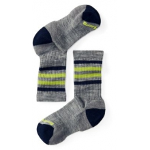 Kids' Striped Hike Light Crew by Smartwool in Coeur Dalene Id