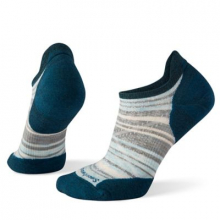 Women's Run Targeted Cushion Striped Low Ankle Socks