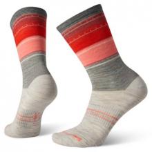 Women's Everyday Stitch Stripe Crew Socks by Smartwool in Arcata CA