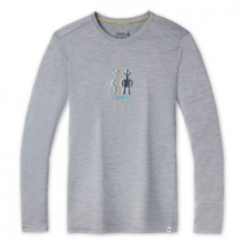 Men's Merino Sport 150 Smartwool Logo Long Sleeve Graphic Tee by Smartwool