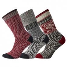 Women's Everyday Popcorn Crew Socks Trio Socks by Smartwool