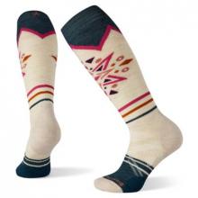 Women's Ski Full Cushion Mountain Snowflake Pattern OTC Socks