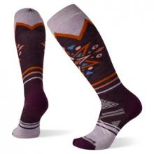 Women's Ski Full Cushion Mountain Snowflake Pattern OTC Socks by Smartwool