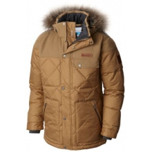 Men's Barlow Pass 550 Turbodown Quilted Jacket by Columbia in Red Deer Ab