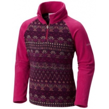 Girl's Glacial II Fleece Print Half Zip by Columbia in Spruce Grove Ab