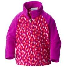 Youth Girl's Toddler Glacial II Fleece Print Half Zip by Columbia in Dallas Tx