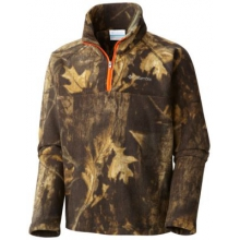 Boy's Glacial II Print Half Zip by Columbia in Camrose Ab