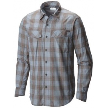 Men's Tall Silver Ridge Plaid Long Sleeve Shirt by Columbia in Glen Mills Pa