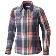 Women's Silver Ridge Lite Plaid Long Sleeve Shi by Columbia in Salmon Arm Bc