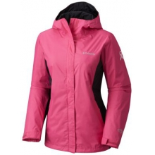 Women's Extended Tested Tough In Pink Rain Jacket II by Columbia