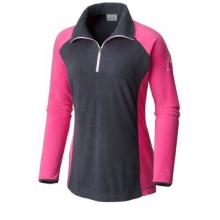 Women's Extended Tested Tough In Pink Fleece Half Zip by Columbia