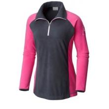 Women's Extended Tested Tough In Pink Fleece Half Zip