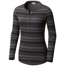 Women's Extended Hood Mountain Lodge Jacquard Henley by Columbia in Coeur Dalene Id