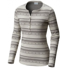 Women's Extended Hood Mountain Lodge Jacquard Henley by Columbia in Lewiston Id