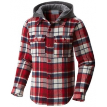 Youth Boulder Ridge Flannel Hoodie by Columbia in Highland Park Il
