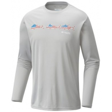 Men's Terminal Tackle Freedom Fish LS by Columbia in Auburn Al