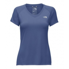 Women's S/S Reaxion Amp V-Neck Tee by The North Face in Burbank Ca
