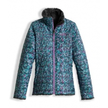 Girl's Reversible Mossbud Swirl Jacket by The North Face in Glen Mills Pa